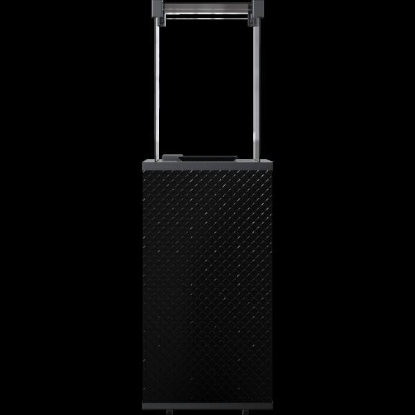 Газовий обігрівач Kratki PATIO MINI скло/чорний - пікований - пульт (8,2 кВт)