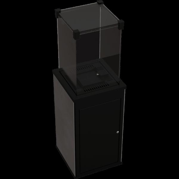 Газовый обогреватель Kratki PATIO керамогранит CALCE ANTRACITE - ручное управление (8,2 кВт)