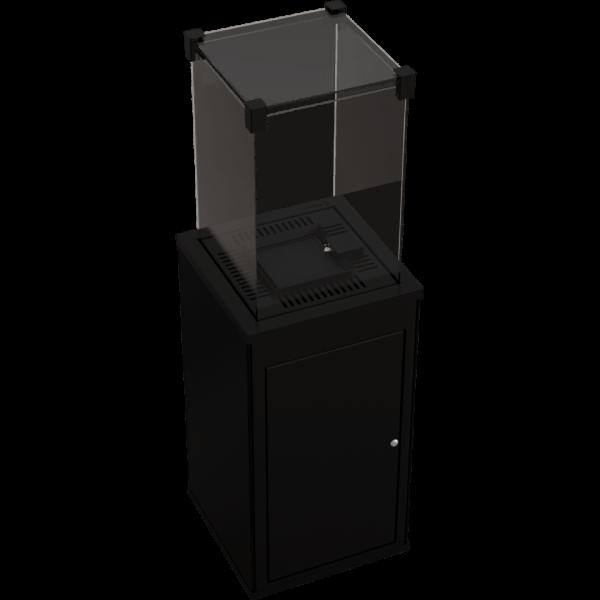 Газовий обігрівач Kratki PATIO керамограніт COLLECTION NERO ASSOLUTO - пульт (8,2 кВт)