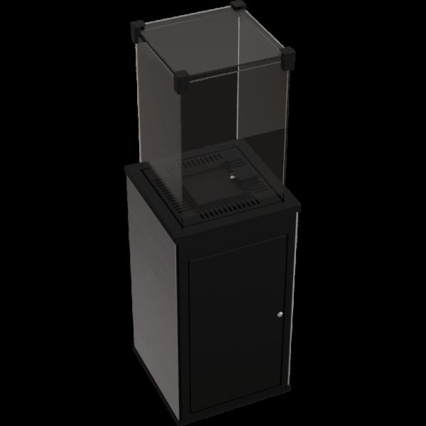 Газовий обігрівач Kratki PATIO керамограніт FILO GHISA - ручне управління (8,2 кВт)