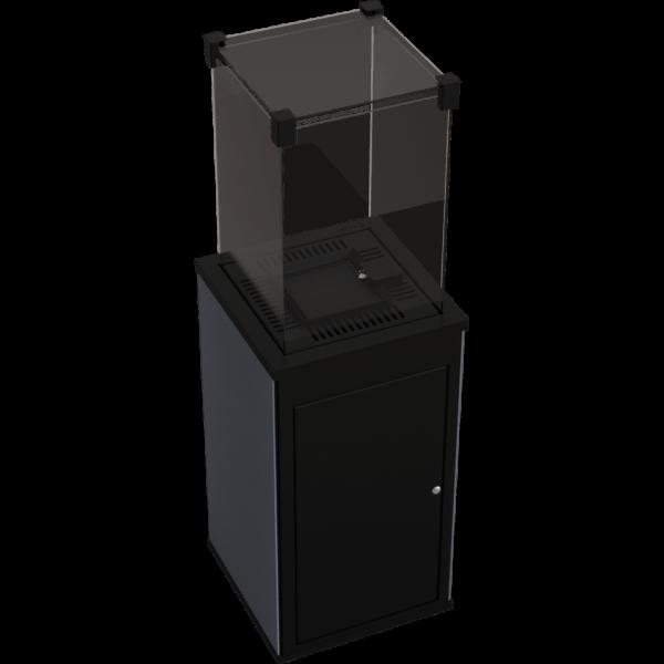 Газовый обогреватель Kratki PATIO керамогранит FILO MERCURIO - ручное управление (8,2 кВт)