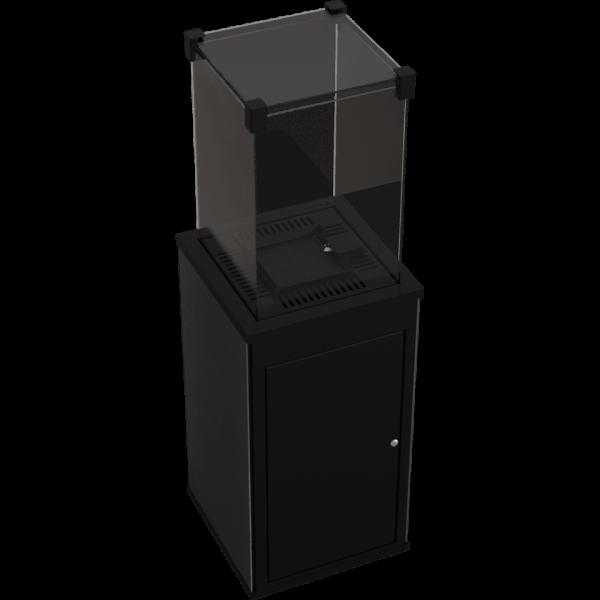 Газовий обігрівач Kratki PATIO керамограніт FILO PECE - пульт (8,2 кВт)