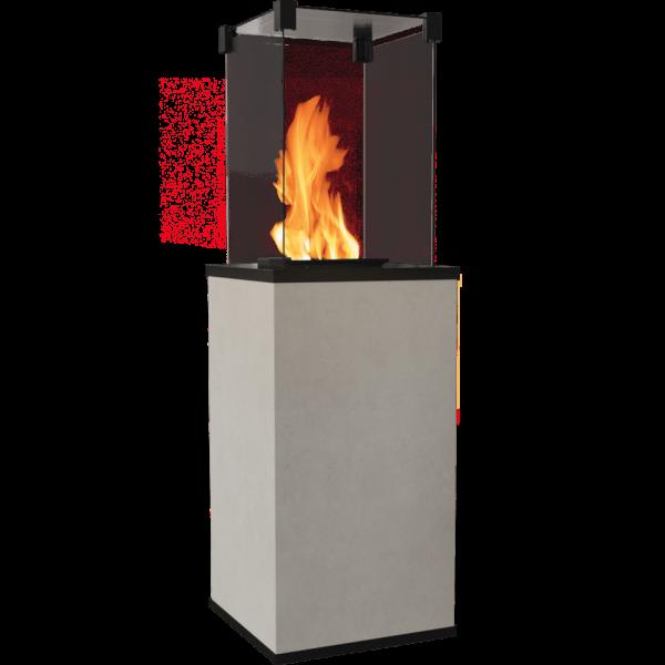 Газовий обігрівач Kratki PATIO MINI керамограніт FOKOS SALE - ручне управління (8,2 кВт)