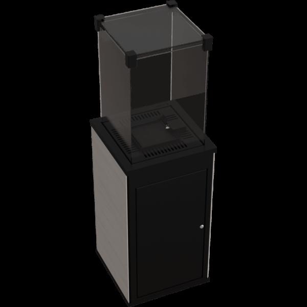 Газовий обігрівач Kratki PATIO керамограніт NATURALI OSSIDIANA VENA CHIARA - пульт (8,2 кВт)