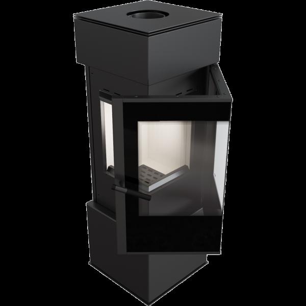 Сталева кутова піч-камін Kratki THOR 8 (8,0 кВт)