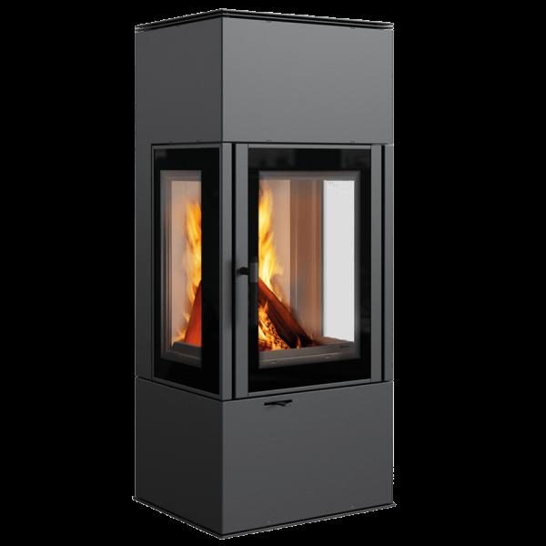 Стальная печь-камин Kratki THOR 8 VIEW (8,0 кВт)